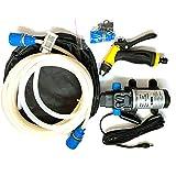 JVJ Kit de lavado de coche portátil de 12 V y 80 W, pulverizador de agua, potente bomba de agua de 120 psi, para coche, marina, mascotas, ventanas, jardín y camping
