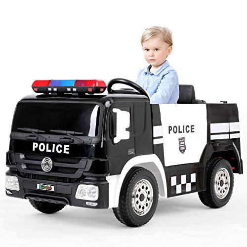 kidsclub Ride on Police Car, Kids 12V Power Wheel Police...