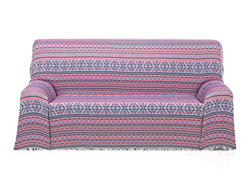 Cardenal Textil Azteca Foulard Multiusos, Rosa, 230x290 cm