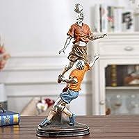 像動物像装飾52cmクラフトフットボールゲームフットボールヘッドキャラクターモデル彫刻樹脂フットボールゲーム像装飾家の装飾