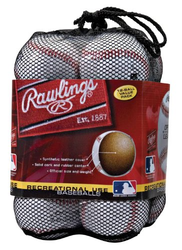 RAWLINGS OLB3BAG12 - Balón de béisbol para Uso recreativo (12 Unidades)