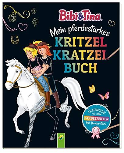 Bibi & Tina - Mein pferdestarkes Kritzel-Kratzel-Buch: Mit Bambus-Stick. Kratzmotive mit tollen Farbeffekten