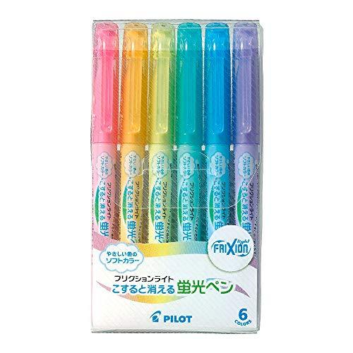 蛍光ペン、ソフトカラー6本セット。