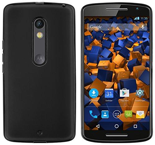 mumbi Hülle kompatibel mit Motorola Moto X Play Handy Hülle Handyhülle, schwarz