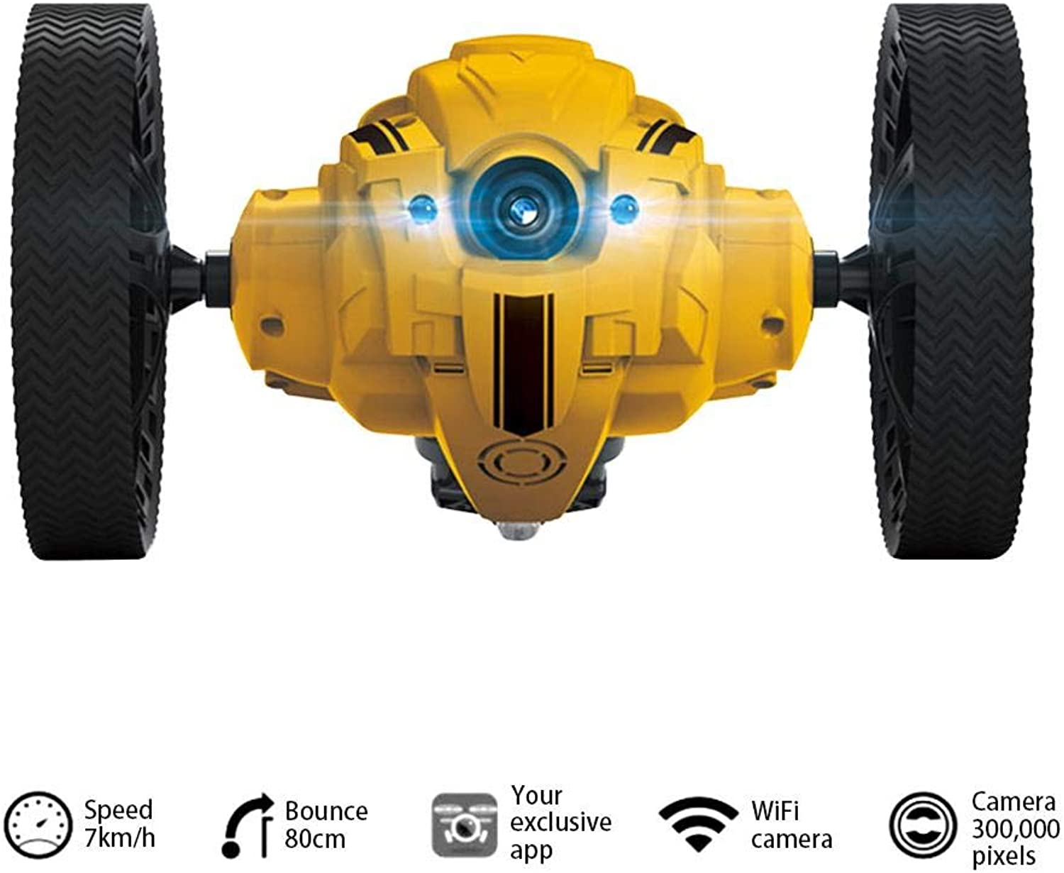 Colinsa RC Cars Radio Controlled Electric Toy Remote Control Cars Whit with Powerful LED, 1 Second Flip, OffRoad Vehicle, Good for Kids, Stunt Car