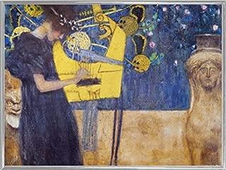 1art1 Gustav Klimt Poster Art Print and Frame (Plastic) - The Music, 1895 (32 x 24 inches)