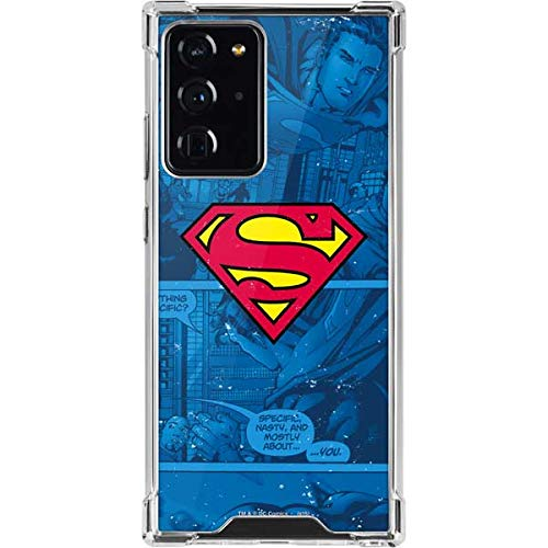 Skinit Clear Phone Case Compatible with Galaxy Note 20 Ultra 5G - Officially Licensed Warner Bros Superman Logo Design