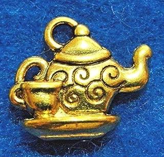 50Pcs. Wholesale Tibetan Antique Gold TEAPOT & Cup Charms Pendants Finding Q1089 Crafting Key Chain Bracelet Necklace Jewelry Accessories Pendants