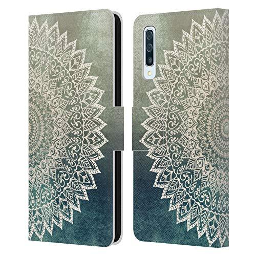 Head Case Designs Ufficiale Nika Martinez Foglie d'Autunno Mandala Cover in Pelle a Portafoglio Compatibile con Samsung Galaxy A50/A30s (2019)