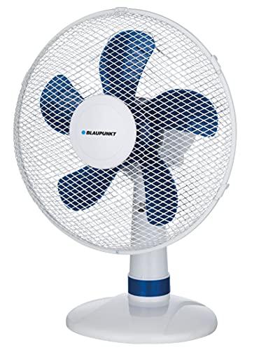 Blaupunkt Ventilador silencioso de sobremesa Ventilador de 35W con 3 Velocidades | Ventilador con Rejilla Nido de Abeja | Diametro 30cm