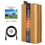Mars Rock 1400w Grid Tie Micro Solar Inverter, 20-50v Dc To 90-140v Ac MPPT Pure Sine Wave Converter For 1400wTo 2000w36v Solar Power System Island Distinguished Gold Color Design (GTI1400W36V120G)