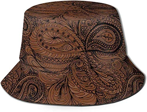 NA emmer hoed Paisley donkere chocolade Paisley zon visser pet outdoor hoed UV zon bescherming hoed opvouwbare lichtgewicht ademende Travel Cap