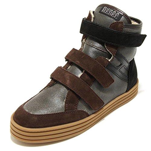 Hogan 9437F Sneaker Rebel R141 RI Strap FODERA Scarpa Bimbo Shoes Kids [34]