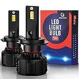 AOLEAD H7 LED Headlight Bulbs, 110W 20000 Lumens Super Bright 6000K CSP Chips Conversion Kit Adjustable Beam