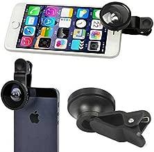 LG Google Nexus 5X Compatible Selfie Camera Lens Kit Fisheye Wide Angle Macro Black