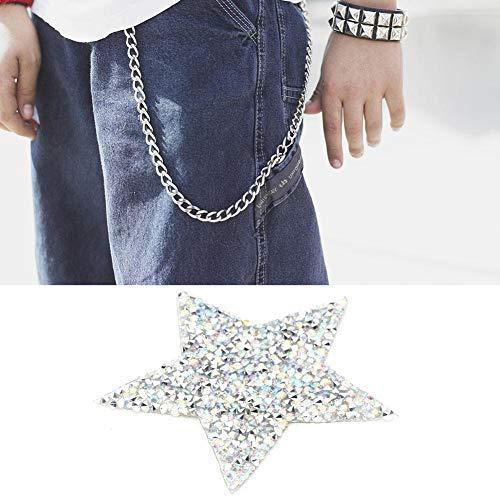HEEPDD 10 unids Rhinestone Estrellas Apliques DIY Cristales Parches para Zapatos Bolsos...