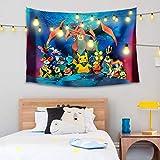 FRSH MNT Po-Ke-Mon Wall Tapestry Hanging Art Cartoon Tapestry For Inhouse Bedroom Living Room Dorm Decor 60 x 40 Inch