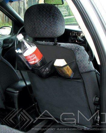 ejp-gbr Organiser. Rückenlehnenschutz Transparent mit Schwarzen Taschen x 2 Stück.
