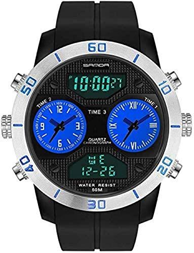 Hombre Estudiante Reloj Digital Deportes Al Aire Libre Adolescente Reloj Despertador Impermeable Moda Tendencia SmartWatches-B