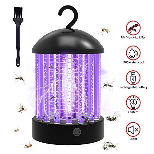 Elektrischer Insektenvernichter, Moskito Killer Lampe with UV Licht, 2-in-1 Anti Mückenlampe Wasserdicht Insektenvernichter Campinglicht für Innen Büro, Garten, Küchen und Schlafzimmer