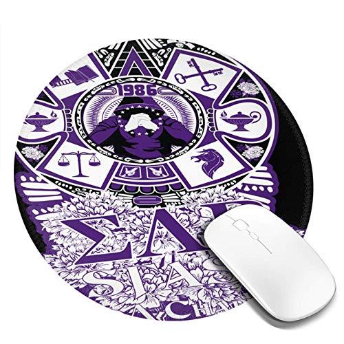 xiangcheng Sigma Lambda Beta Computer Mouse Pad Runde Geschenke für Männer und Frauen 7,8 Zoll 1 Stück