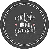 wolga-kreativ 72 Aufkleber Geschenkaufkleber'mit Liebe für Dich gemacht' Handmade Homemade Sticker...