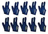 Lots of 10 Champion Sport Dark Blue Right Hand Billiards Gloves for Pool Cues (10 Gloves Per Package), Get One Free Glove, Retail Price: $29.00