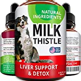 Liver Support Supplement for Dogs & Cats - Milk Thistle Liver Support - Canine Hepatic Care - Cat & Dog Liver Cleanse - Max Effect Liquid Drops
