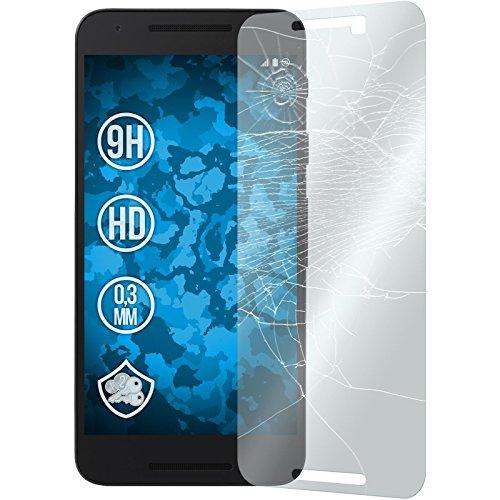PhoneNatic 1 x Glas-Folie klar kompatibel mit Google Nexus 5X - Panzerglas für Nexus 5X