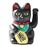 UOOOM Glückskatze Winkekatze Glücksbringer Chinesische Glücks Katze Fengshui Deko Figur Dekoartikel