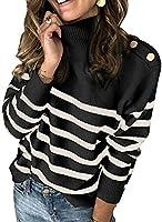 HIKARO Damen Rollkragen Langarm Pullover Strickpullover Strickpulli Stricksweater Stricksweatshirt Strick Langarmshirt