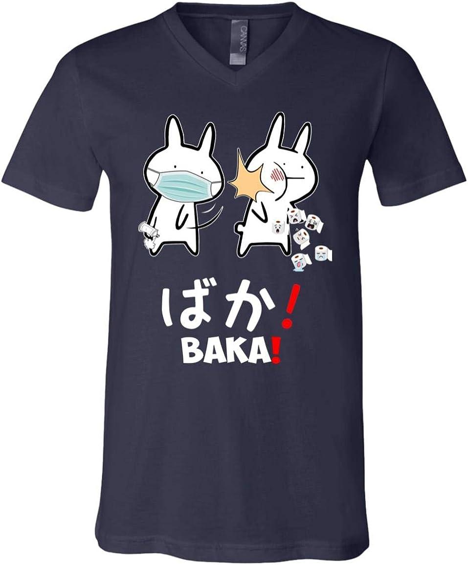 Funny Baka Rabbit Slap Meme ギフ_包装 蔵 Japanimation T-Shirt Quarantine 2020