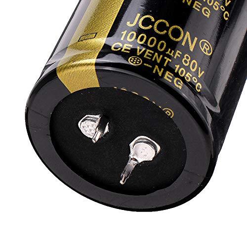 Modulo electronico 35x60mm Radial Condensador electrolítico de aluminio de alta frecuencia de 105 ° C 10000uF 80V
