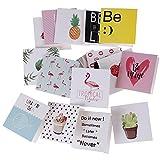 JJZS Greeting Card 10 Unids/Set Tarjetas De Felicitación De Cumpleaños De Dibujos Animados En Blanco Postal De Felicitación De Año Nuevo Mini Tarjetas Creativas Tarjeta De Navidad, A