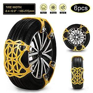 soyond Car Snow Chains 6 Pcs Emergency Tire Chains