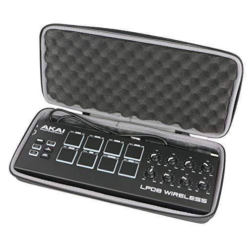 Hart case Tasche für AKAI Professional LPD8 Wireless Bluetooth MIDI Controller von co2CREA(Nur hülle) (für lpd8 Wireless)