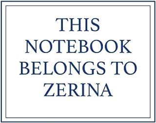 This Notebook Belongs to Zerina