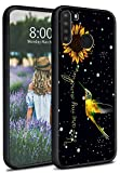 Galaxy A21 Case, for Samsung A21 Case, Dikoer Slim Soft Liquid Silicone Full Body Shockproof Anti-Scratch Protection Phone Case for Samsung Galaxy A21 (2020 Release) 6.5 inch, Hummingbird Sunflower