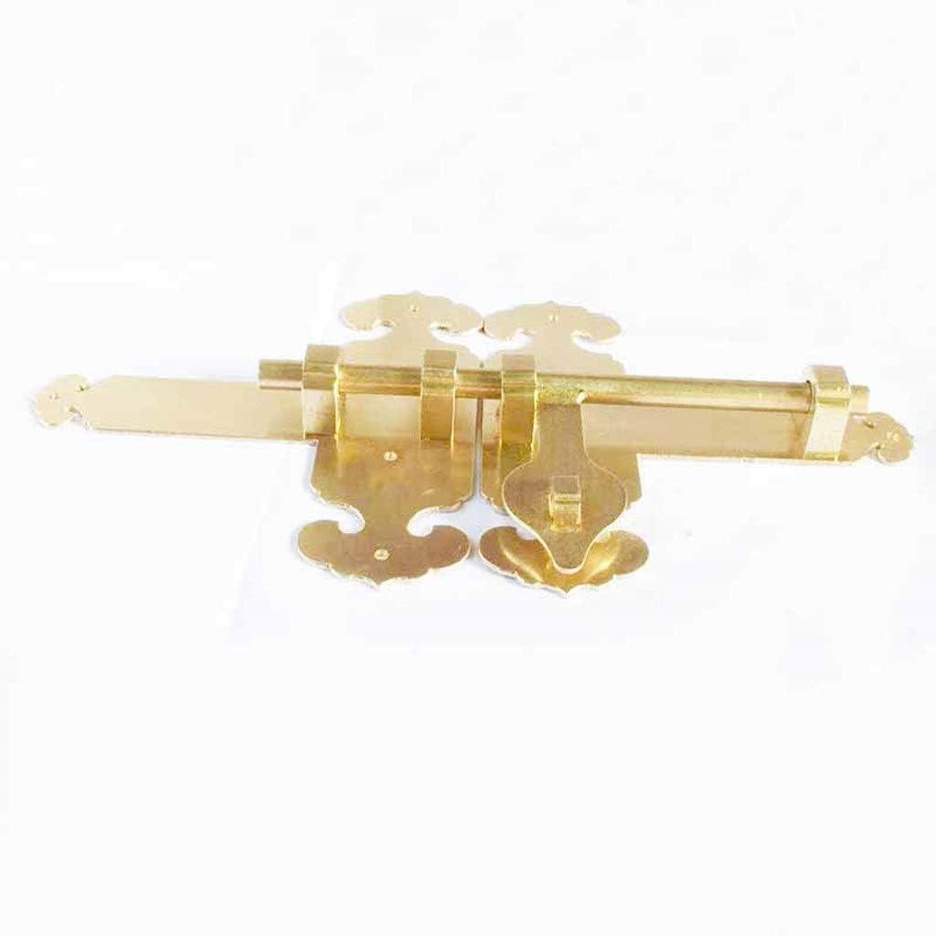HAHFKJ Security Solid Brass overseas Recommendation Sliding Garden Door Bolt Wood Double