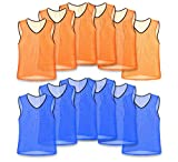 Unlimited Potential Nylon Mesh Scrimmage Team Practice Vests Pinnies Jerseys for Children Youth Sports...