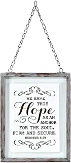 We Have This Hope 7 x 5 Framed Glass Wall Art