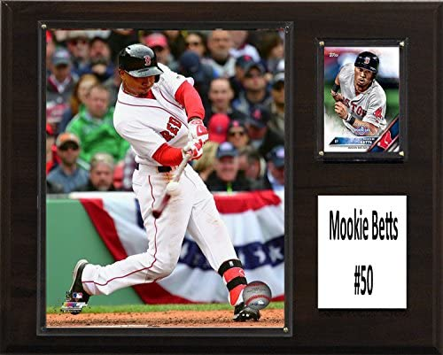 C I Collectables MLB Boston Red Sox Mookie Betts Player Plaque Brown 12 x 15 product image