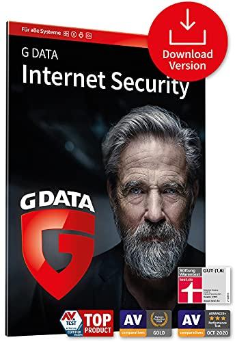 G DATA Internet Security 2021, 3 Geräte - 1 Jahr, Code per Email, Virenscanner für PC, Mac, Android, iOS, Made in Germany - zukünftige Updates inklusive