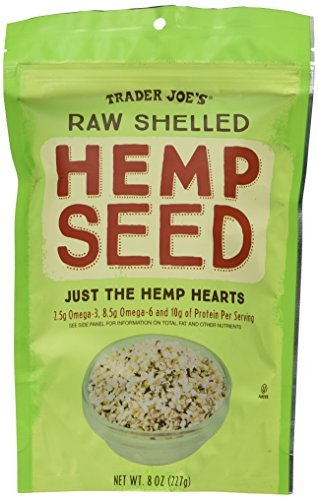 2 x Bags of Trader Joes Raw Shelled Hemp Seeds 8 oz