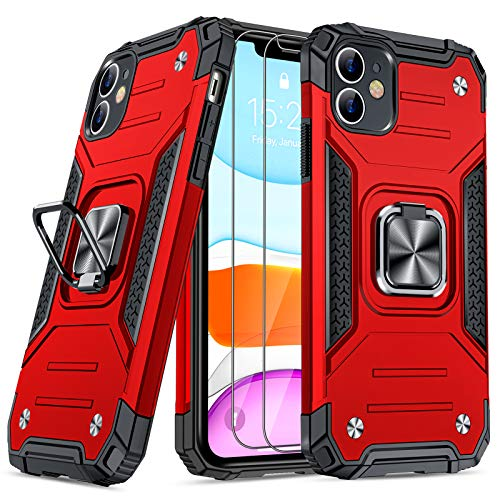 JAME Designed for iPhone 11 Case with Screen Protector 2PCS, Military-Grade Drop Protection,...