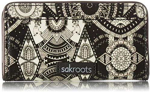 Sakroots Slim Wallet, Black and White Wanderlust