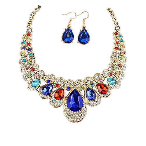 jieGorge Women Fashion Crystal Necklace Jewelry Statement Pendant Charm Chain Choker , Necklaces & Pendants , Products for Xmas Day (Multicolor)