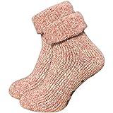 GAWILO 1 Paar Damen Stoppersocken – ABS Socken – Wollsocken – ohne drückende Naht –...