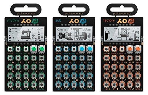 Teenage Engineering PO-10 sintetizador Super Set con paquete completo de accesorios