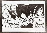 Poster Dragon Ball Goku Vegeta Piccolo Majin Bu Affiche Handmade Graffiti Street Art...